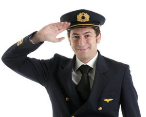 airline captain saluting