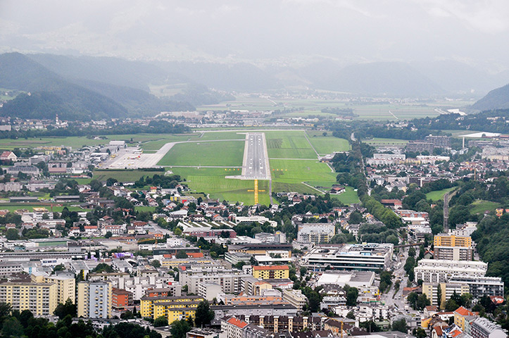 Innsbruck: The runway approach