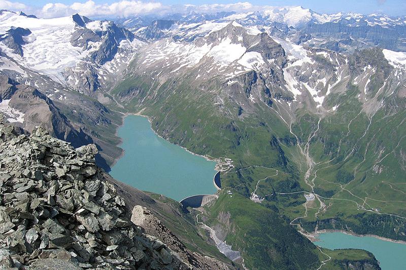 Mooserboden jezerní přehrada