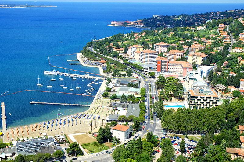 Portoroz city